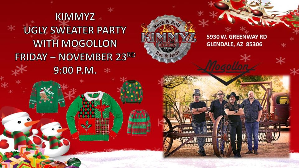 mongollon ugly sweater party - Live Music in Glendale - Kimmyz on Greenway