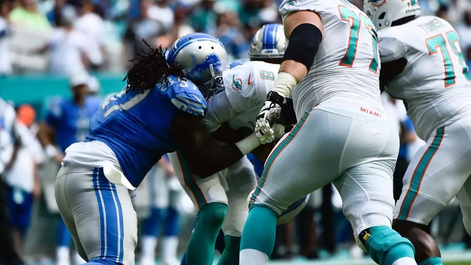 Lions vs Dolphins - NFL Sunday Ticket October - Kimmyz on Greenway - Image Credit AP